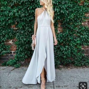 Vici-Bonjour Halter Maxi Dress-Small-
